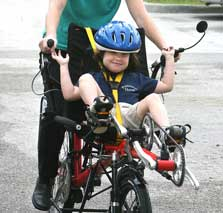 Child on a Tandem Bike